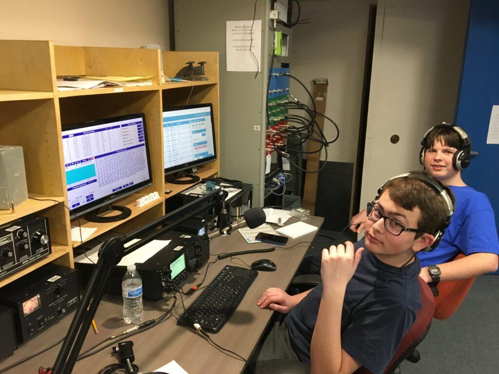 KD8YVJ and KE8KLC operating at WC8VOA during CQWPX 2019