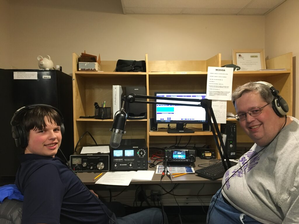 Patrick and Neil at WC8VOA during YCP